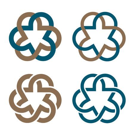 mystical: vector abstract magic knot flower eternity emblem