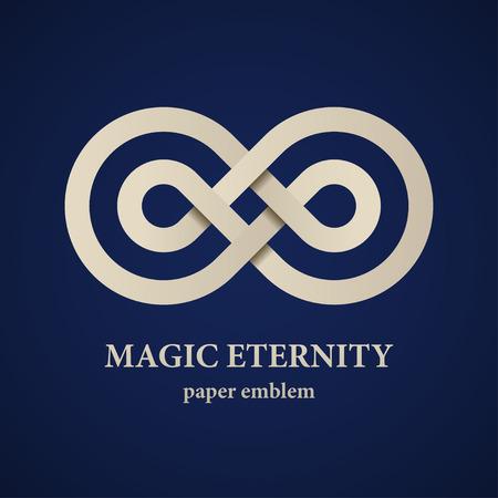 signo de infinito: vector de la magia abstracta papel eternidad emblema Vectores
