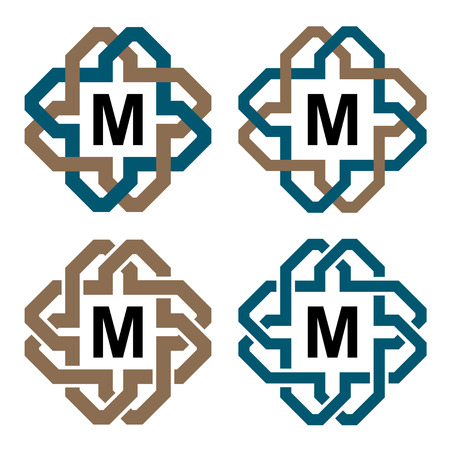 knotwork: vector abstract magic knot letter eternity emblem Illustration