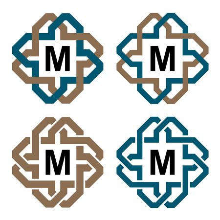 endlos: Vektor abstrakte magische Knoten Brief Ewigkeit Emblem