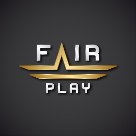 decency: vector fair play text icon