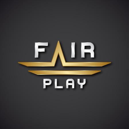 fairplay: vector fair play text icon