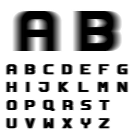EPS10 vector speed motion blur font alphabet letters Çizim