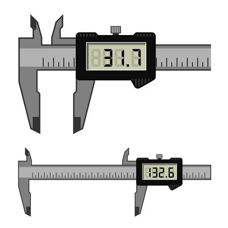 depth gauge: vector LCD electronic digital caliper micrometer gauge vernier