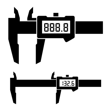 depth gauge: vector LCD electronic digital caliper micrometer gauge vernier