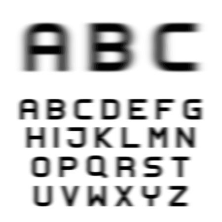 blurs: vector speed motion blur font alphabet letters
