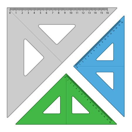 align: vector plastic triangle rulers