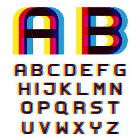 distortion: EPS10 vector distortion blur font alphabet letters Illustration