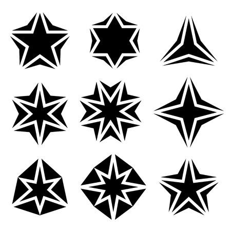별: vector black star symbols