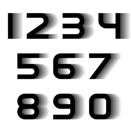 nombres: num�ros de police de flou de vitesse vectoriel