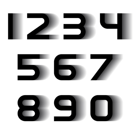 digital numbers: vector speed motion blur font numbers