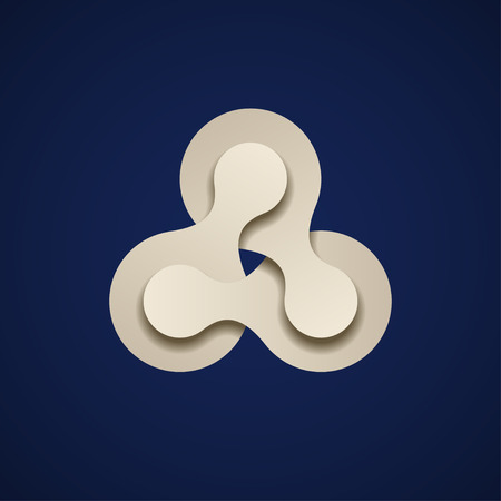 paper chain: vector teamwork infinity chain paper emblem
