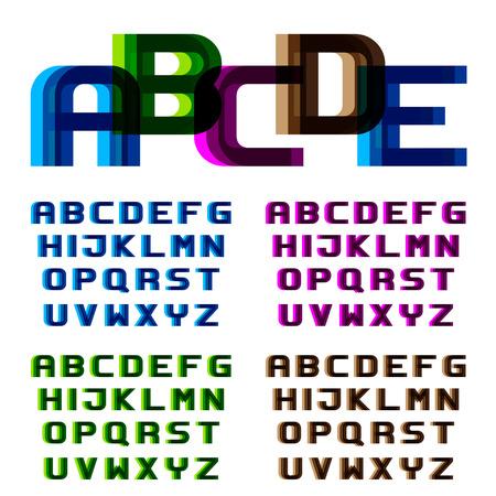 distortion: distortion blur font alphabet letters Illustration