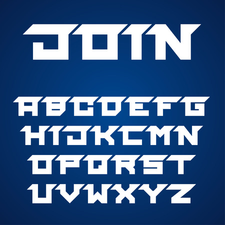 are joined: joined roofed font alphabet letters