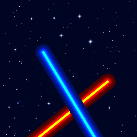 light swords on night sky