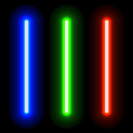 resplandeciente espadas de luz Ilustración de vector