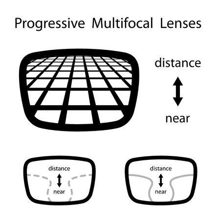 Progressive multi-lenti occhiali focali Archivio Fotografico - 51565006