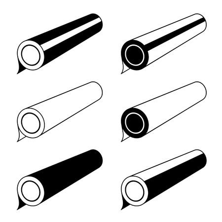 cellophane: roll of any foil black symbols