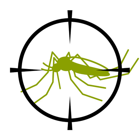focused: crosshair focused mosquito symbol