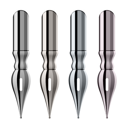 communication tools: ink pen nibs