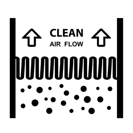 Antibacterial: air filter effect symbol