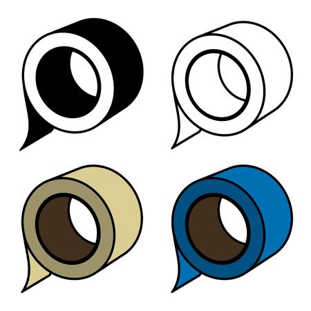 cintas: rollo de cinta adhesiva símbolos
