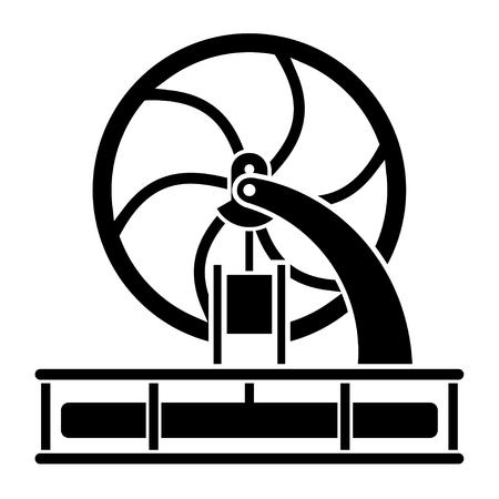crankshaft: modern stirling engine model silhouette