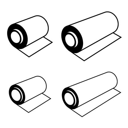 Vektor Rolle einer Folie schwarzen Symbolen