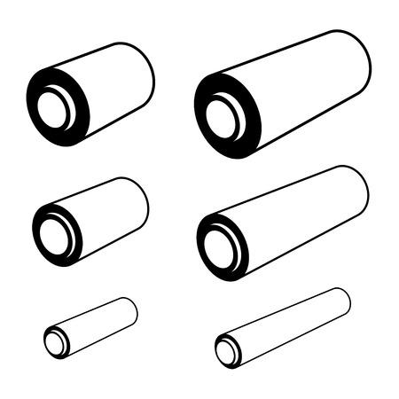 foil roll: vector roll of any foil black symbols