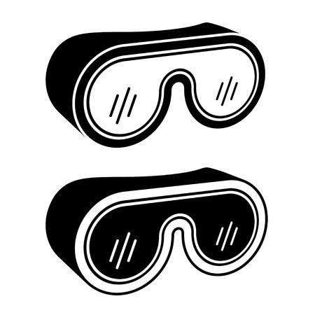 vettore Occhiali Occhiali di sicurezza simbolo nero