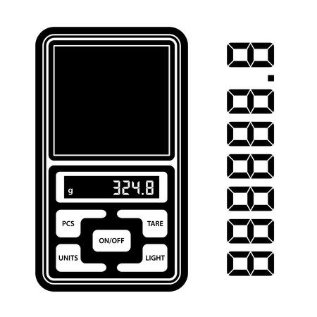 portable: vector portable digital weight scale black symbol
