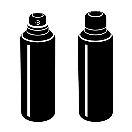 stink: vector spray can black symbol