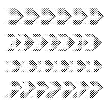 vector dotted arrow strip black symbols