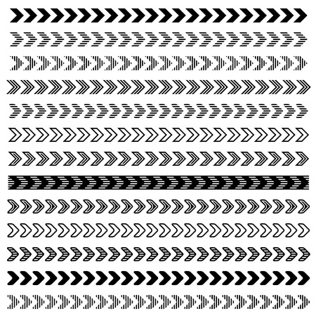 flecha: la flecha del vector de la tira símbolos negros Vectores