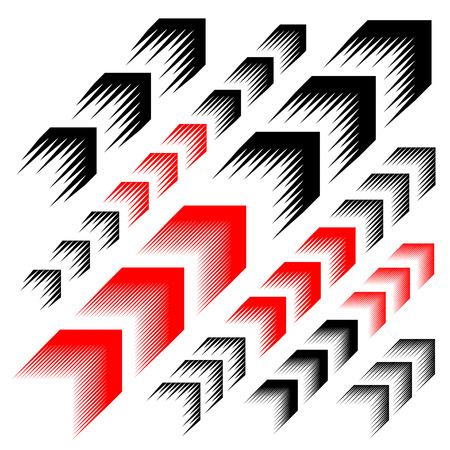 ligne de flèche de mouvement simple symbole vecteur