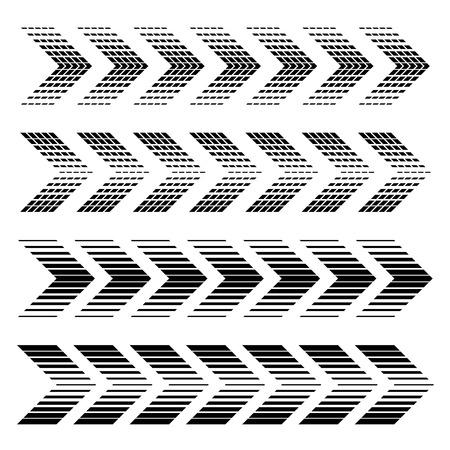 vector arrow strip black symbols