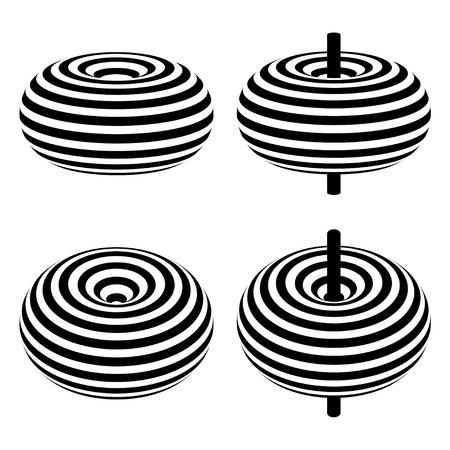 magnetic field: magnetic field toroid black symbol Illustration