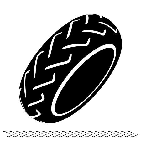 motoring: motorbike tire black symbol Illustration