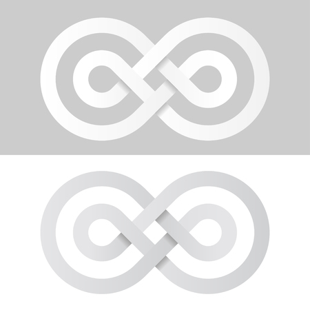 unrestricted: infinity eternity white paper symbol