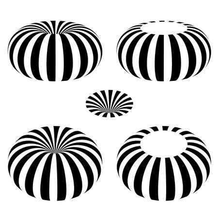 electromagnetic field: magnetic field toroid black symbol Illustration