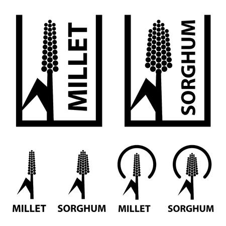 cereal: millet sorghum cereal black symbol