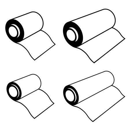 foil roll: roll of any foil black symbols