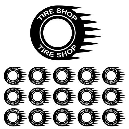car tire: tire service shop rent wash car garage
