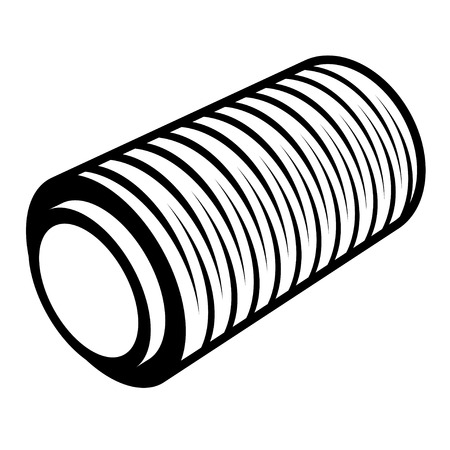 foil: roll of wrapping foil thread spool
