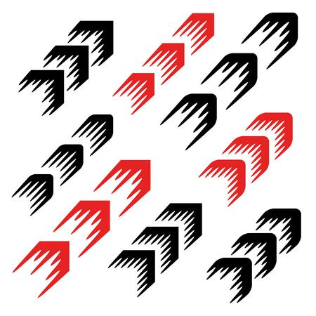 flecha: línea de movimiento de la flecha simple símbolo Vectores