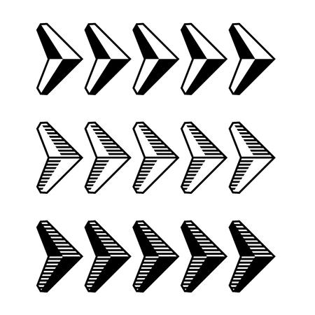 speed: Decoración símbolo de la flecha negro Vectores