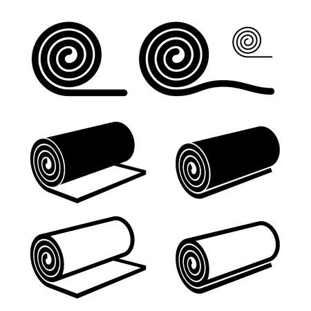 Rolka o czymś czarnym symbolem Ilustracje wektorowe