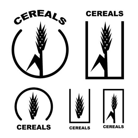 cereal: cereal ear black symbol