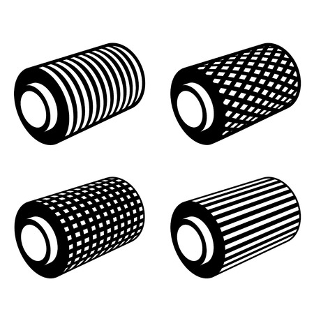 rolled: roll of anything foil thread spool Illustration