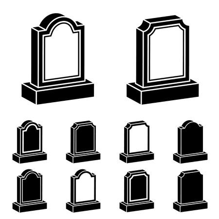 3d grafsteen zwart symbool Vector Illustratie
